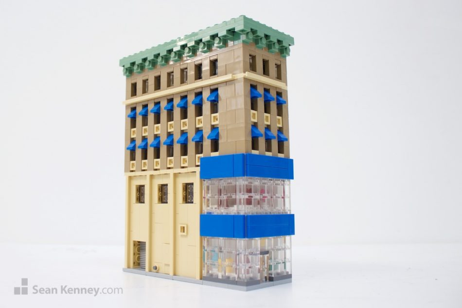 Tiny-department-store-on-fulton-street LEGO art by Sean Kenney