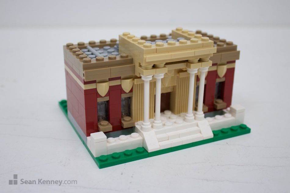Little-city-library LEGO art by Sean Kenney