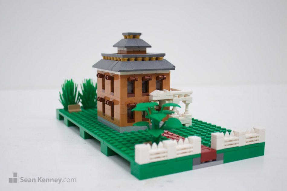 Brown-victorian LEGO art by Sean Kenney