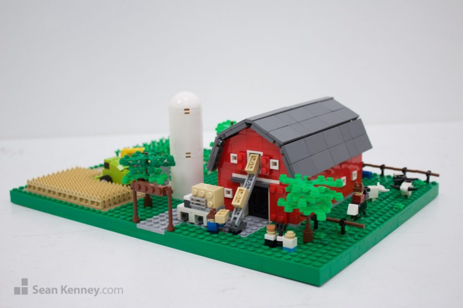 Farm LEGO art by Sean Kenney
