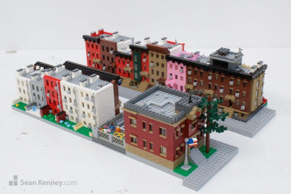 Brooklyn-city-block LEGO art by Sean Kenney