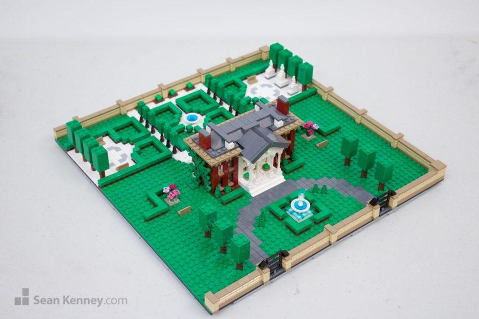 Ritchey-manor LEGO art by Sean Kenney