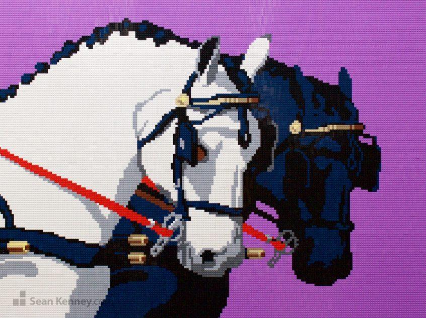 Horses LEGO art by Sean Kenney