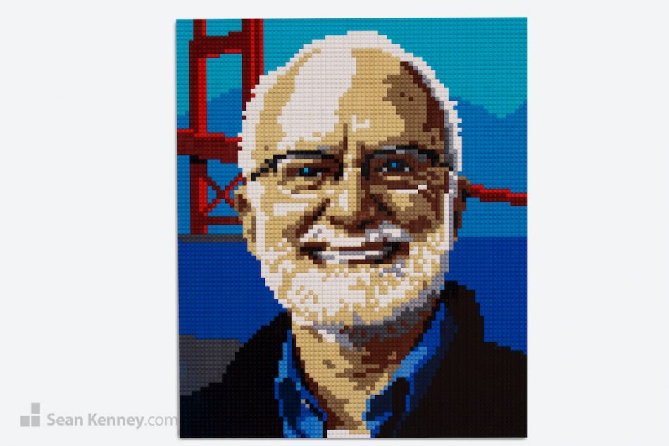 Mr-golden-gate LEGO art by Sean Kenney