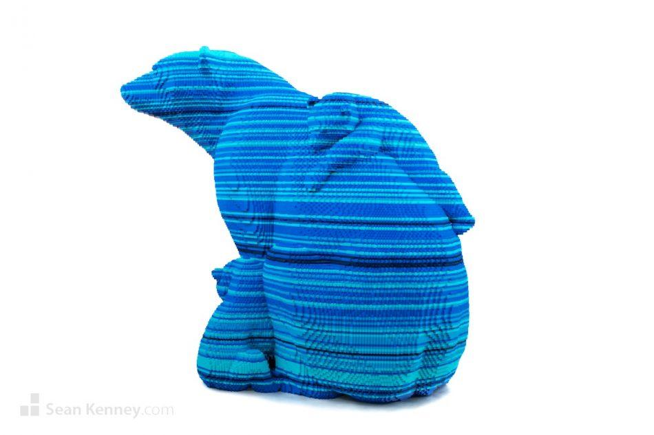 Glacier-blue-polar-bears LEGO art by Sean Kenney