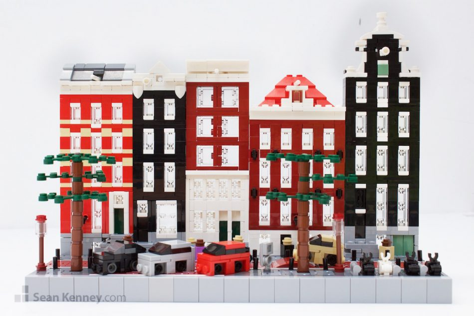 Tiny-amsterdam-canal-houses LEGO art by Sean Kenney