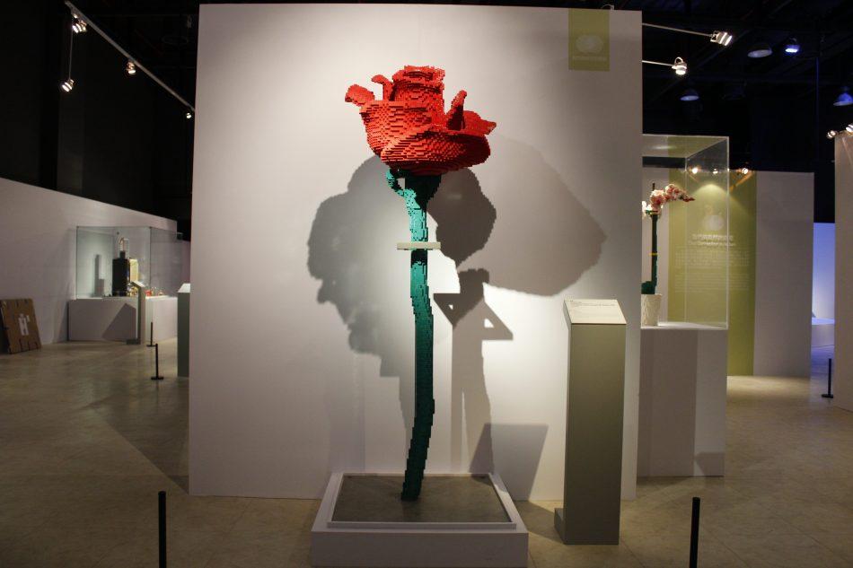 Rose-2 LEGO art by Sean Kenney