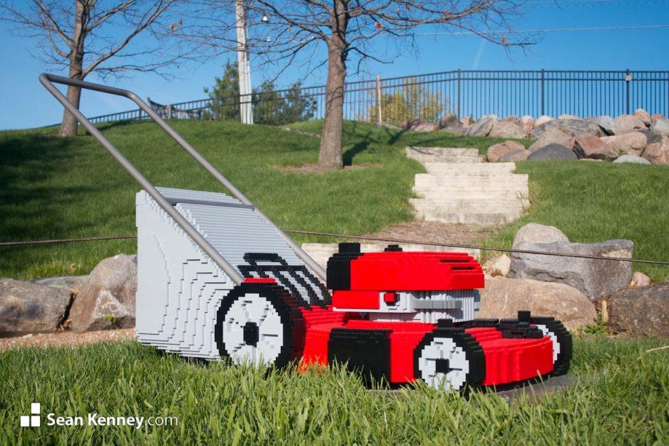 Lawnmower LEGO art by Sean Kenney