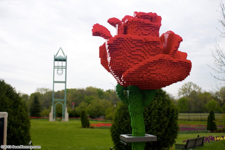 Rose LEGO art by Sean Kenney