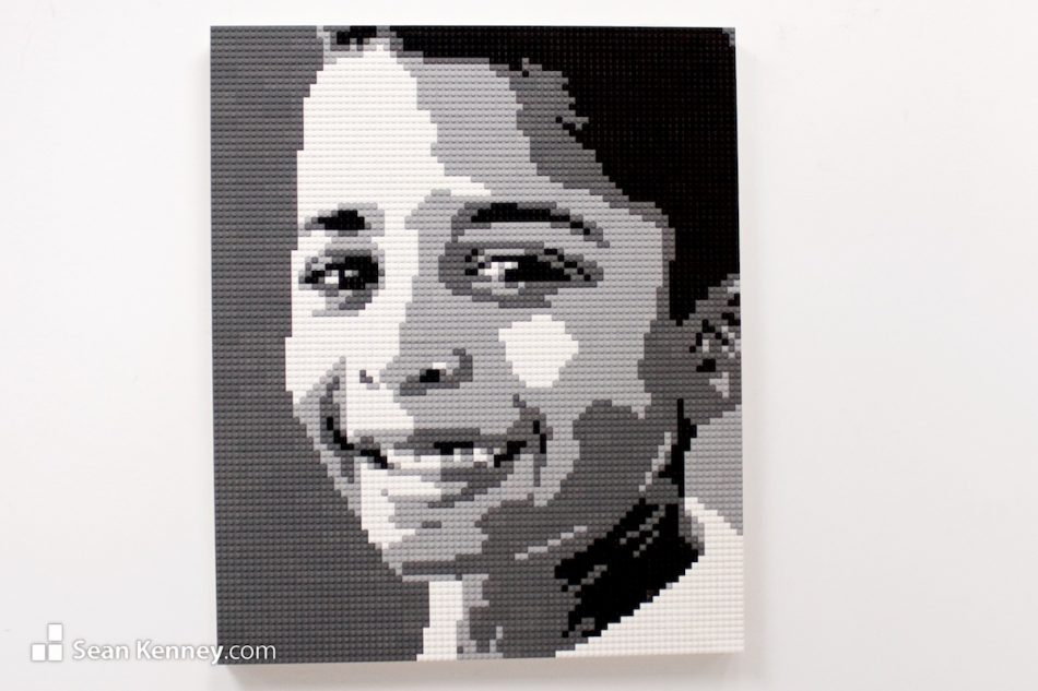 Black-and-white-siblings-3-of-3 LEGO art by Sean Kenney