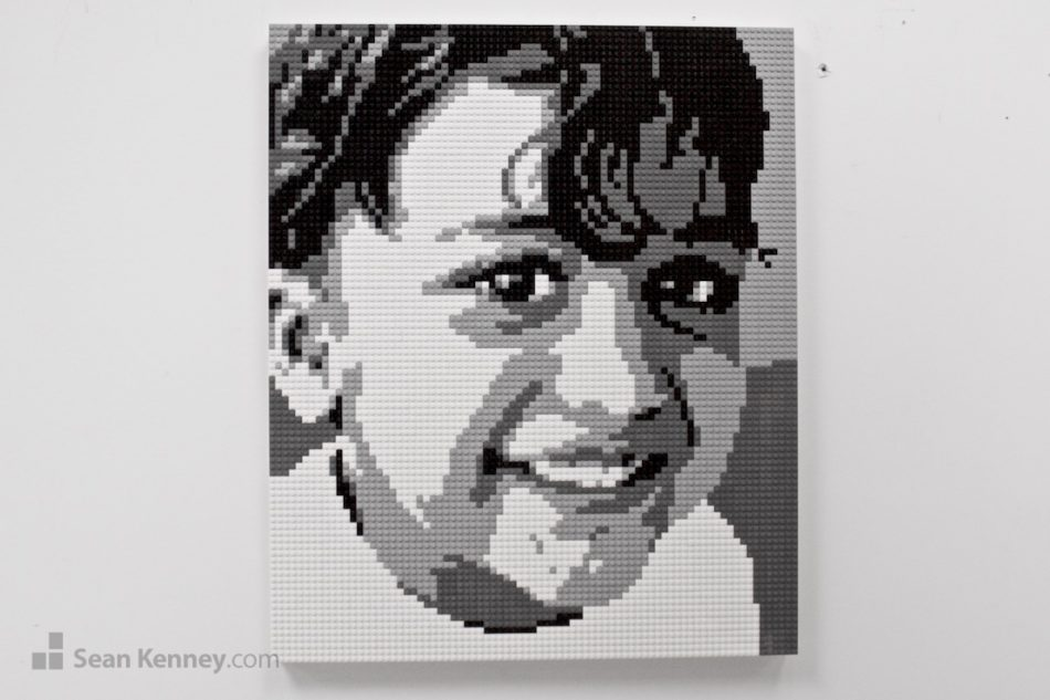 Black-and-white-siblings-1-of-3 LEGO art by Sean Kenney