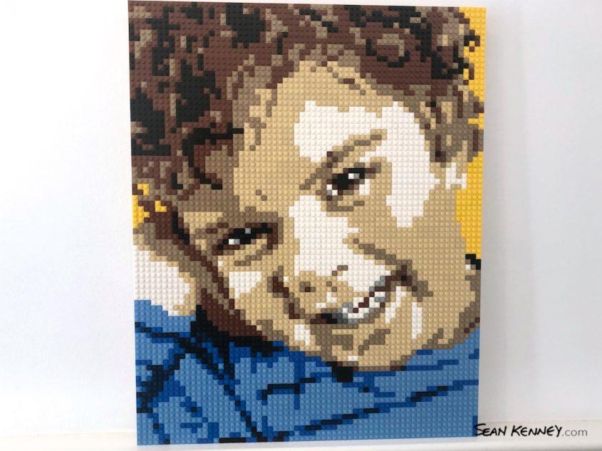 Sibling-yellow LEGO art by Sean Kenney