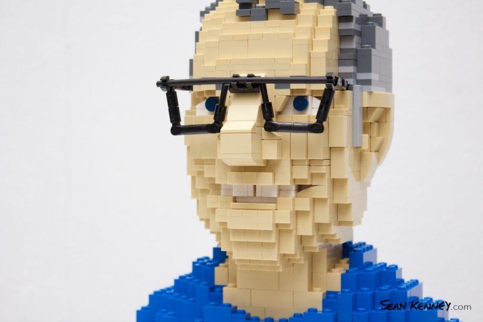 Miniature-bust-portrait LEGO art by Sean Kenney